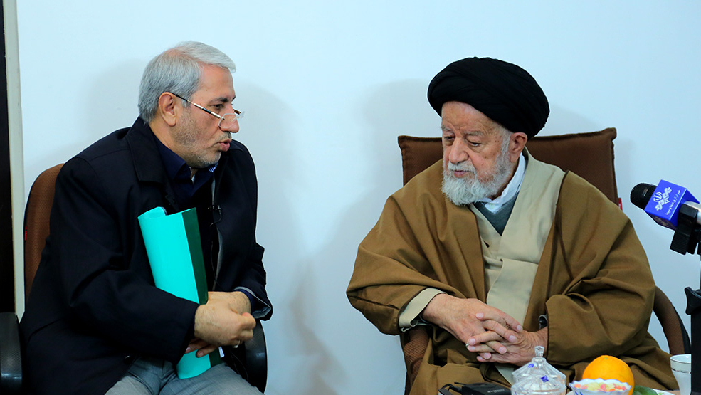 Dr. Seyed Hashemi Visits Ayatollah Seyed Muhammad Shah-Cheraghi, Representative of the Leader to Semnan Province