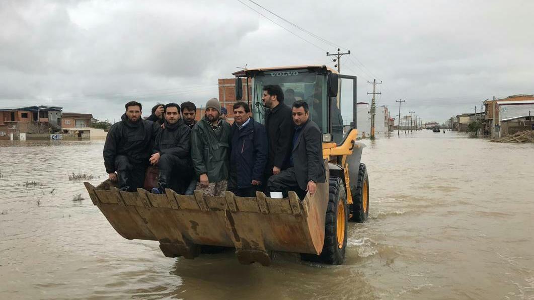 گزارش تصویری بازدید دکتر مخبر رییس ستاد اجرایی فرمان حضرت امام(ره) از مناطق سیلزدهی شهرستان آققلا در استان گلستان
