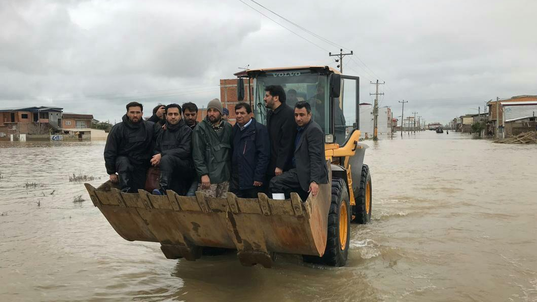 Report on Visit of Dr. Mokhber Head of the Execution of Imam Khomeini's Order to the Flood-Hit Areas of Aqqala County in Golestan Province in PHOTO