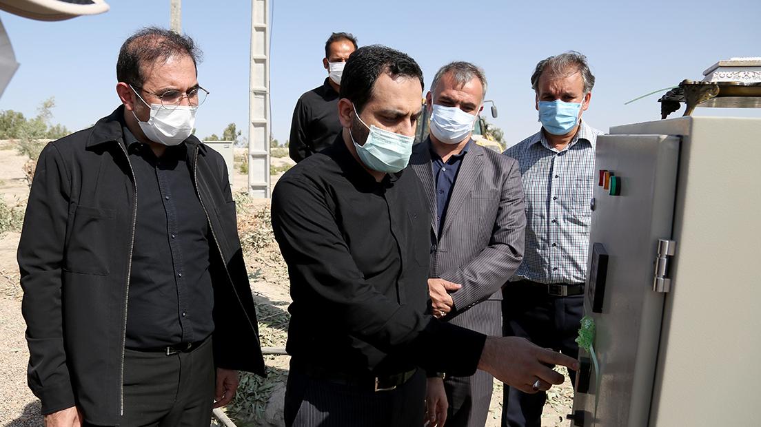 گزارش تصویری بهرهبرداری از پروژهی آبرسانی به پایانه برکت در مهران