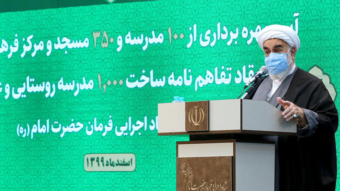 گزارش تصویری آیین بهرهبرداری از 100 مدرسه و 350 مسجد و مرکز فرهنگی برکت