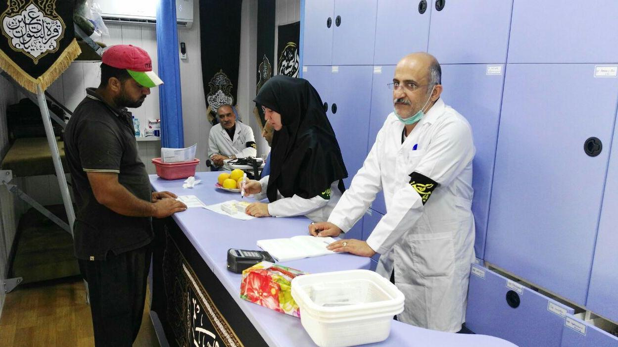 لجنة تنفیذ أمر سماحة الامام (ره) تقدم الخدمات الصحیة و العلاجیة الی 50000 زائر حسیني